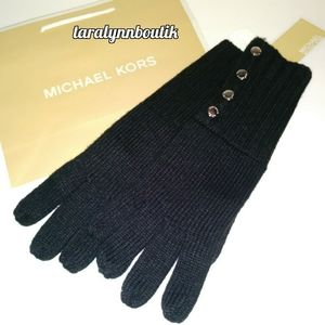 ❄Michael Kors|Black Knit Gloves❄